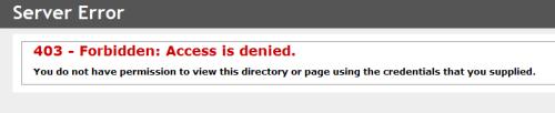 Asp.Net MVC 403 Forbidden Access is Denied Hatası