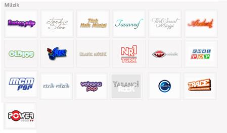 Tivibu Müzik Kanal Listesi