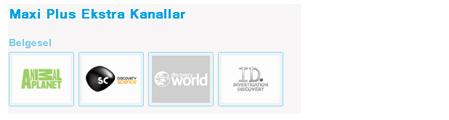 Tivibu Maxi Plus Belgesel Kanal Listesi