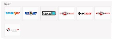 Tivibu Spor Kanal Listesi